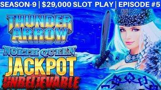 Thunder Arrow Slot Machine HANDPAY JACKPOT - Awesome Session | Season 9 | Episode #1