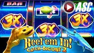*BIG WIN!* REEL 'EM IN! CATCH THE BIG ONE 2 (WMS) Slot Machine Bonus
