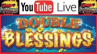 MUST SEE WIN! 88 CENT BONUS on DOUBLE BLESSINGS Sizzling Slot Jackpots LIVE Casino Machine Videos