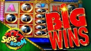BIG WIN BONUSES Quest for Riches & Lion Festival 2c Konami Video Slots