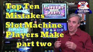 """Top 10 Mistakes Slot Machine Players Make with Mike """"Wizard of Odds"""" Shackleford - part two"""