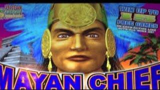 $4.50 bet Konami Mayan Chief Nickel Denom free spin  bonus
