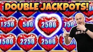 ⋆ Slots ⋆️  Hearts & More Hearts ⋆ Slots ⋆️ 2 Lock It Link Night Life Jackpots on Max Bet!