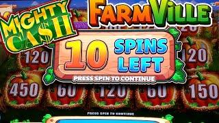 High Limit Mighty Cash Farm Ville Slot Machine Bonus & FULL SCREEN | SE-5 | EP-6