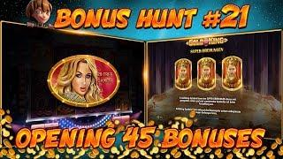 BONUS HUNT #21 - OPENING 45 SLOT BONUSES LIVE ON STREAM! - BIG WINS?