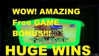HUGE FREE GAME BONUS WINS HUMONGOUS