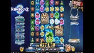 Reactoonz - About 700x Bet BIG WIN!