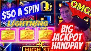 ⋆ Slots ⋆BIG JACKPOT HANDPAY⋆ Slots ⋆ On High Limit Lightning Link Slot Machine - $50 A Spin | SE-9 | EP-17