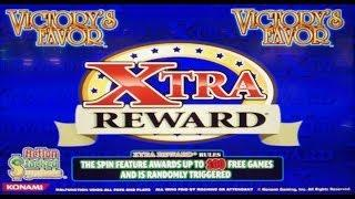 Konami Gaming: Xtra Reward - Victory's Favor Slot Bonus WINS