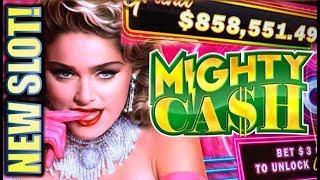 •NEW SLOT! MIGHTY MADONNA!• W/ MIGHTY CASH MULTIPLIERS Slot Machine Bonus (Aristocrat)