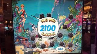 """VGT Slots  """"The Hunt For Neptune's Gold""""    Lots of Red Screen Win Spins.  Choctaw Casino"""