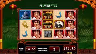 Bruce Lee Dragon's Tale slot - 784 win!