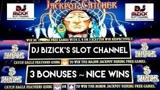~$$ NICE WINS $$~  3 BONUSES ~ Jackpot Catcher Slot Machine ~ LOW BETS BIG WINS! • DJ BIZICK'S SLOT