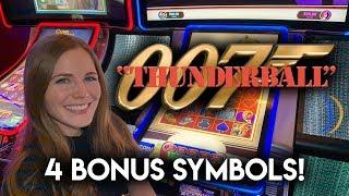 Extra Free Spins For A Nice BONUS Win! James Bond Thunderball Slot Machine!