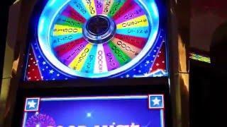 High Limit $25 Dollar Wheel of Fortune Bonus Spin