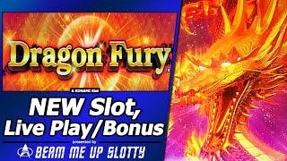 Dragon Fury Slot - Live Play and Free Spins Bonuses in First Attempt at new Konami game