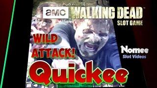 The Walking Dead Slot Game - Wild Attack Feature - Max Bet