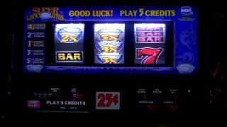 Lucky Lotus slot line hit win at Sands Casino