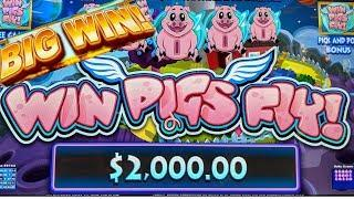 FIRST LOOK• •WIN PIGS FLY• LIVE PLAY 3X BONUSES