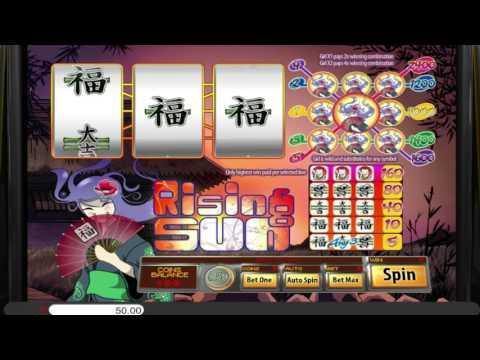 Free Rising Sun (3 reels) slot machine by Saucify gameplay ★ SlotsUp