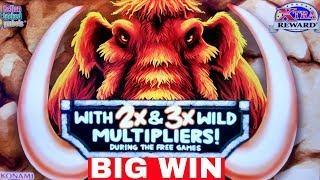 •BIG WIN• New KONAMI Slot Machine MAMMOTH POWER Bonus BIG WIN w/$7.50 Bet  Live Slot Play w/NG Slot