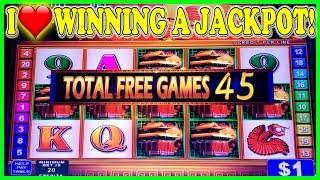 I • WINNING A JACKPOT WITH ONLY 45 FREE SPINS ON KONAMI HIGH LIMIT SLOTS