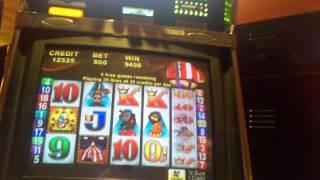 Pt 2 DRUNK LIVEPLAY Aristocrat Roll up Max bet Bonus Slot pull $5 max bet free spin