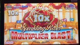 •BIG WIN•New ! SPARKLING ROSES MULTIPLIER BLAST Slot machine (Konami) •Live play & Bonuses•彡栗スロ/カジノ