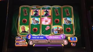 Wizard of Oz Ruby Slippers Slot Machine Bonus - Free Spins