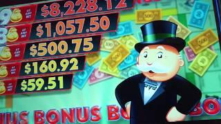 Lots of Bonuses playing MONOPOLY MONEY at the FLAMINGO in Las Vegas! HOTT slot machine