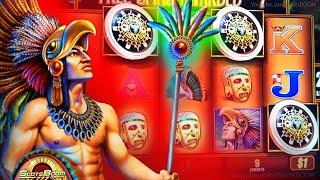 MONTEZUMA -  HIGH LIMIT BONUS & PLAY!!! $1 WMS Slots
