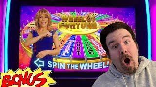 Wheel of Fortune 4D  Max Bet- BONUS WHEEL SPIN IGT Slot Machine Live Play