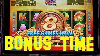 Dragon's Way Live Play max bet $3.25 with BONUS FREE SPINS Konami Slot Machine