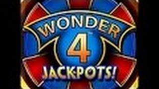 Wonder 4 Jackpots Slot Machine-Live Play-Buffalo Deluxe!