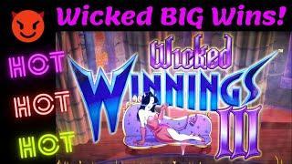 ⋆ Slots ⋆ SUPER BIG WINS on WICKED WINNINGS 3 and WICKED WINNINGS 4 SLOT MACHINE POKIE