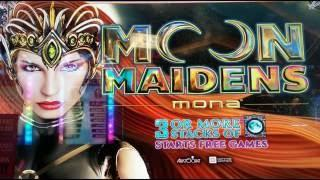 BIG WIN On MOON MAIDENS SLOT MACHINE!  LINE HIT!  MAX BET!  BONUSES!