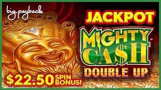 JACKPOT HANDPAY, INCREDIBLE! Mighty Cash Double Up Endless Diamonds Slot - BONUS AFTER BONUS!