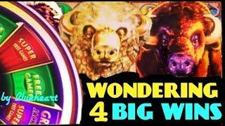 •SUPER GAMES LIVE PLAY• WONDER 4 JACKPOTS BUFFALO GOLD slot machine BONUS WINS!