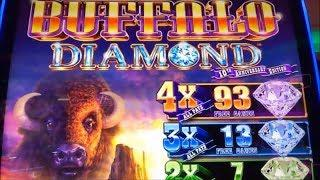 •NEW ! BUFFALO DIAMOND•$250 Free Play Live/ Buffalo Diamond Slot (Aristocrat) @San Manuel Casino•栗スロ