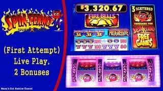 Spin Ferno Slot Machine BONUS WIN Live Play