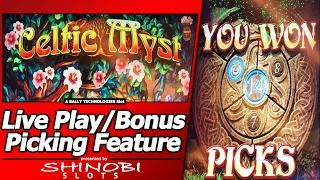 Celtic Myst Slot - Live Play, with Picking Bonuses and Free Spins