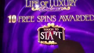 Life of Luxury Slot Machine~FREE SPIN BONUS!~RE-TRIGGER~ Progressive Picks!~BIG WINS! • DJ BIZICK'S