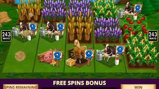FARMVILLE 2 Video Slot Casino Game with a WATER WELL FREE SPIN BONUS
