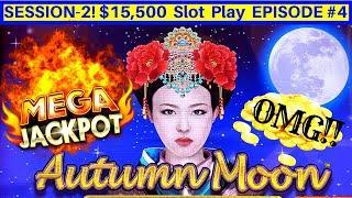 Autumn Moon Dragon Link Slot •HUGE HANDPAY JACKPOT• | Dragon Link Slot MASSIVE Win | SE2 EPISODE #4