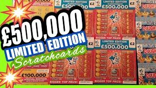 Fantastic Scratchcard Game..NEW £500,000 RED..W/Wonderlines..Dough..Flamingo..£100,000