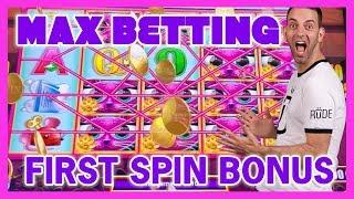 •MAX Betting•First Spin BONUS•U Spin Deluxe JACKPOT•Cosmo LAS VEGAS • BCSlots