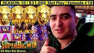Buffalo Gold Slot Machine Max Bet Bonus & Over 100x Super Big Win | Season 10 | Episode #19