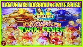 I AM ON FIRE! HUSBAND vs WIFE CHALLENGE TURNING $1000 FREE PLAY INTO PROFIT ( S4 Ep2 )