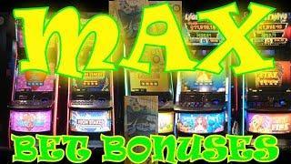 $5.00 MAX BETS Bonuses HUGE Wins LIGHTNING LINK Episode 100 $$ Casino Adventures $$