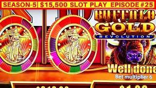NEW Buffalo Gold Revolution Slot Machine Max Bet Bonus   SEASON 5   EPISODE #26